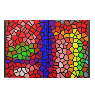 Stylish mutlicolored stained glass iPad air covers