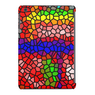 Stylish mutlicolored stained glass iPad mini cover