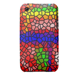 Stylish mutlicolored stained glass iPhone 3 Case-Mate cases