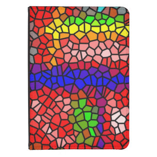 Stylish mutlicolored stained glass kindle touch cover
