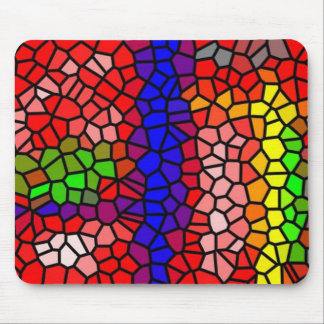 Stylish mutlicolored stained glass mouse pad