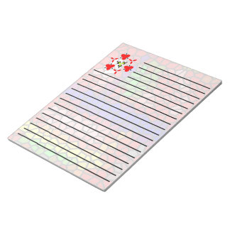 Stylish mutlicolored stained glass notepad