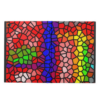 Stylish mutlicolored stained glass powis iPad air 2 case