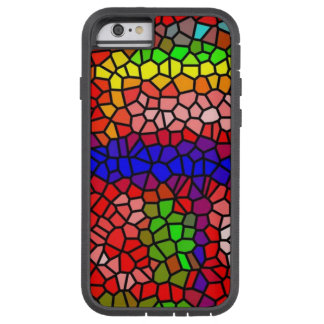 Stylish mutlicolored stained glass tough xtreme iPhone 6 case