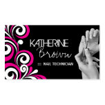 Stylish Nail Salon Business Card Template