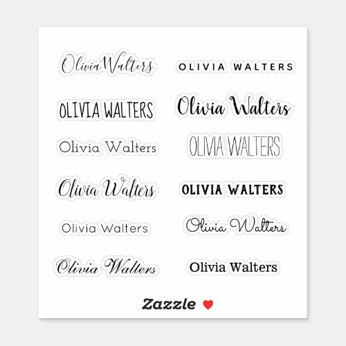 Stylish Name Sticker