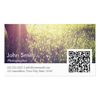 Stylish Nature Photography QR code Business Card