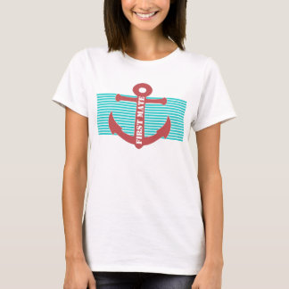 Stylish Nautical Anchor Custom T-Shirt