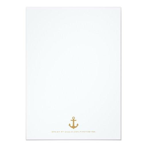 Stylish Nautical Bridal Shower Invitation (back side)