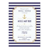 Stylish Nautical Bridal Shower Invitation