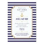 Stylish Nautical Neutral Baby Shower Invitation