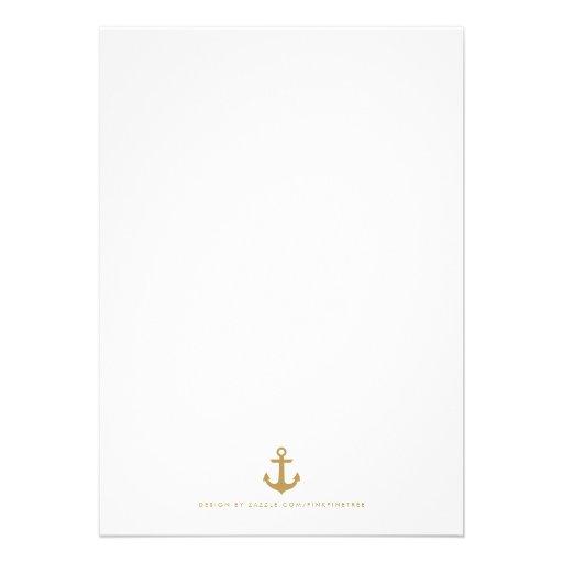 Stylish Nautical Rehearsal Dinner Invitation (back side)