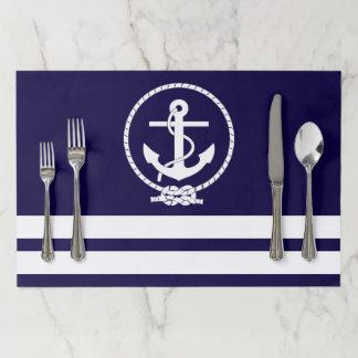 Stylish Nautical Theme Paper Placemat