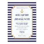 Stylish Nautical Wedding Invitation