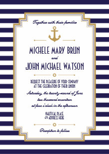 nautical wedding invitations zazzle