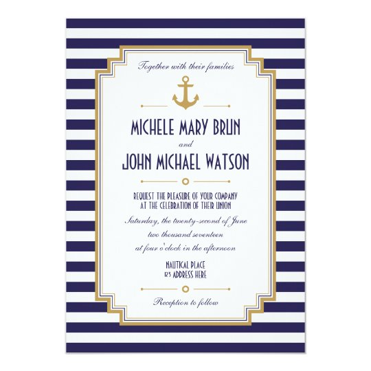 Sailboat Wedding Invitations: Stylish Nautical Wedding Invitation