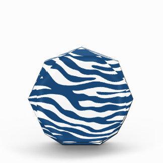 Stylish Navy Blue Zebra Print Pattern Award