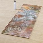 Stylish Nebula Mandala Lotus Yoga Mat