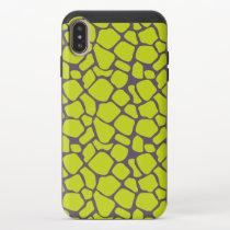 Stylish Neon Purple Leopard Print Animal Skins iPhone XS Max Slider Case