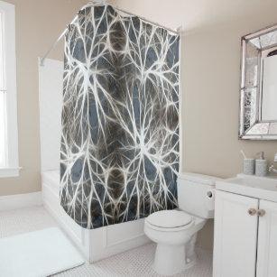 Stylish Neurons Healthy Shower Curtain