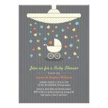 Stylish Neutral Baby Shower Colorful Invitation Custom Invitations