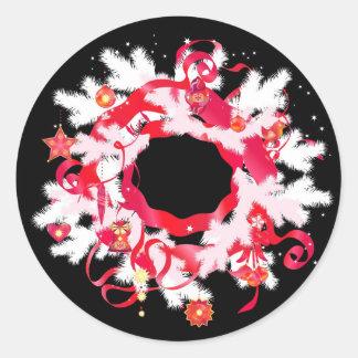 Stylish New Year, Christmas sticker