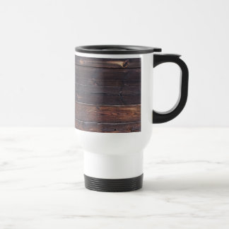 Stylish Old Wood Grain Travel Mug