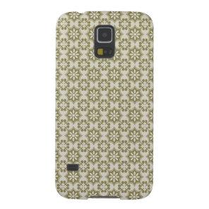 Stylish olive green Fleur de Lis repeating pattern Case For Galaxy S5