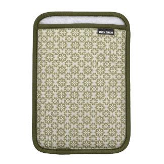 Stylish olive green Fleur de Lis repeating pattern iPad Mini Sleeves