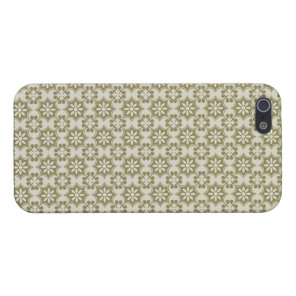 Stylish olive green Fleur de Lis repeating pattern iPhone SE/5/5s Cover