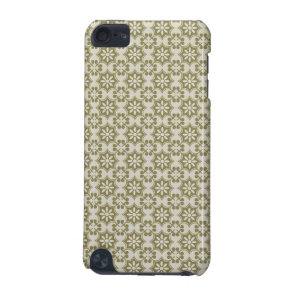 Stylish olive green Fleur de Lis repeating pattern iPod Touch (5th Generation) Case