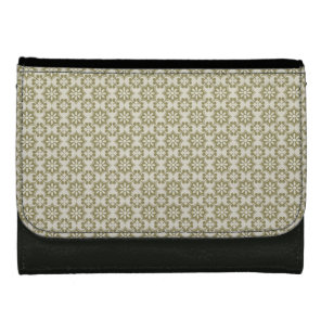 Stylish olive green Fleur de Lis repeating pattern Wallet