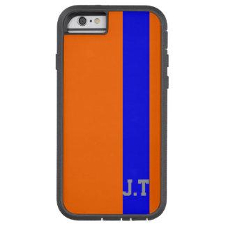 Stylish Orange and Blue Monogram Tough Xtreme iPhone 6 Case