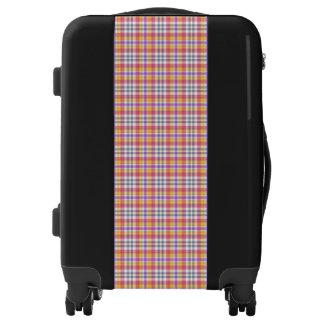 Stylish orange checkered Pattern Luggage