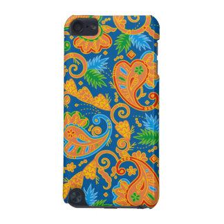 Stylish orange Paisley Pattern iPod Touch 5G Cover