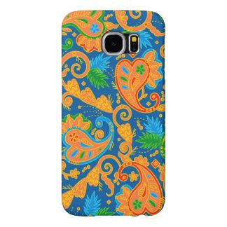 Stylish orange Paisley Pattern Samsung Galaxy S6 Case