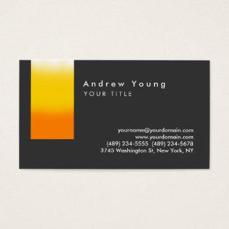 Stylish Orange Yelllow Gray Business Card