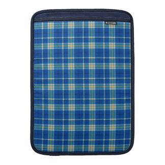 Stylish original blue Scottish tartan plaid… MacBook Air Sleeve