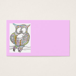 Stylish Owl-Abstract Art Business Card
