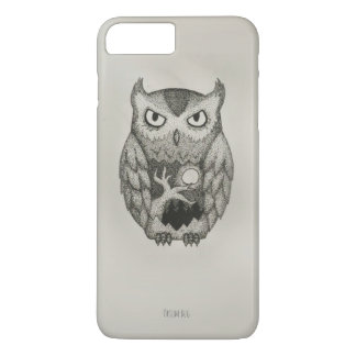 Stylish Owl Dotwork Pnone Case