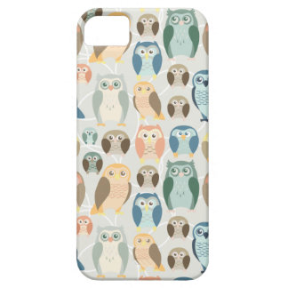 Stylish Owl Pattern- complementary colors iPhone 5 Cases