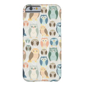 Stylish Owl Pattern- complementary colors Barely There iPhone 6 Case