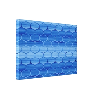 Stylish Painted Blue Ogee Pattern