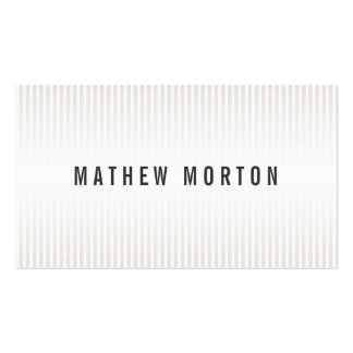 Stylish pale brown stripes elegant professional Double-Sided standard business cards (Pack of 100)