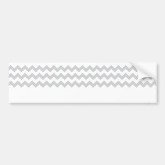 Stylish pale gray zig zags zigzag chevron pattern car bumper sticker