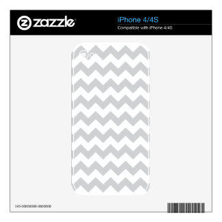 Stylish pale gray zig zags zigzag chevron pattern decal for iPhone 4