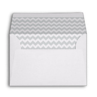 Stylish pale gray zig zags zigzag chevron pattern envelope