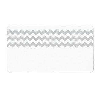 Stylish pale gray zig zags zigzag chevron pattern label