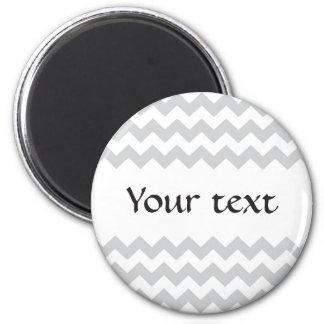 Stylish pale gray zig zags zigzag chevron pattern magnet