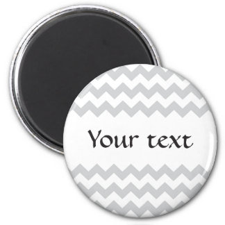 Stylish pale gray zig zags zigzag chevron pattern 2 inch round magnet